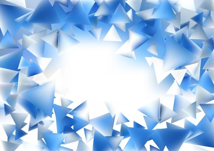 Abstract Blue and White Geometric Background Vector
