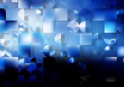 Abstract Blue Black and White Modern Geometric Background Vector Illustration
