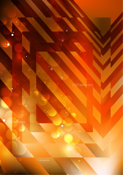 Dark Orange Modern Geometric Shapes Background Vector Image