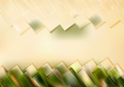 Abstract Green and Beige Modern Geometric Shapes Background