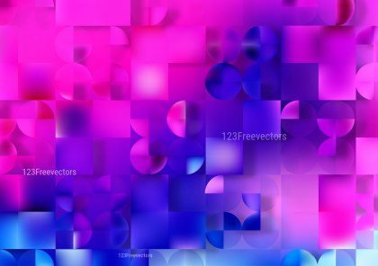 Abstract Pink and Blue Modern Geometric Shapes Background Vector Art