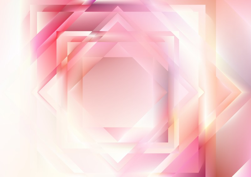 Pink and White Geometric Shapes Background Design