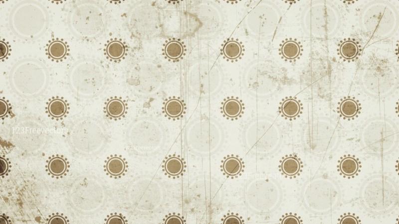 Beige Grunge Circle Background Pattern