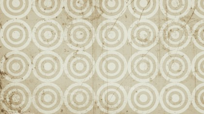 Beige Circle Grunge Pattern Background