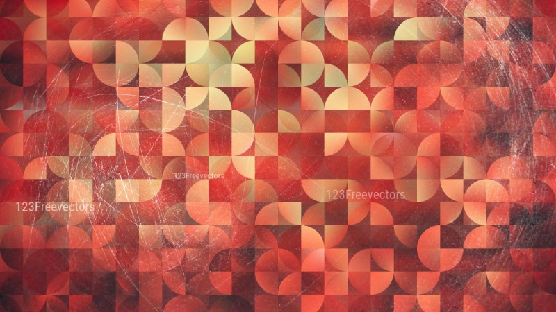 Beige and Red Abstract Quarter Circles Background Image