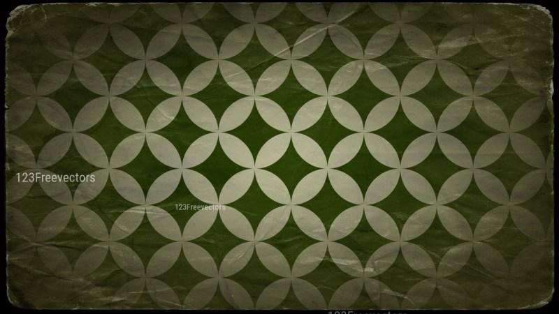 Beige Green and Black Grunge Geometric Circle Background Pattern