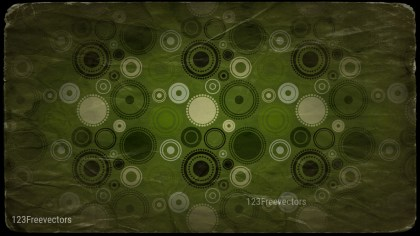 Beige Green and Black Seamless Circle Grunge Pattern Background Image