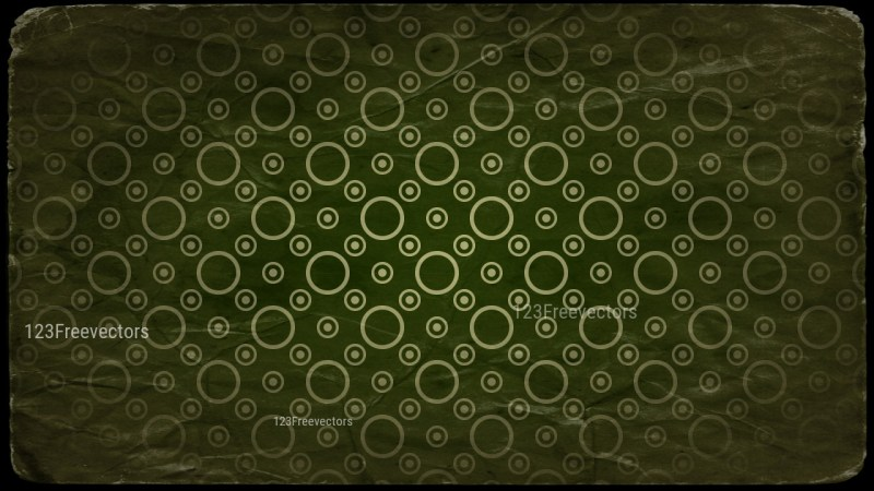 Beige Green and Black Grunge Circle Pattern Texture Background