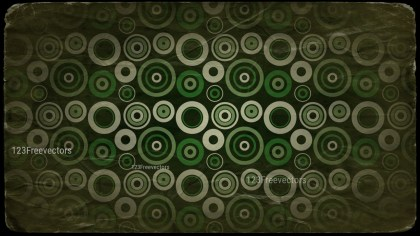 Beige Green and Black Seamless Circle Grunge Background Pattern Graphic