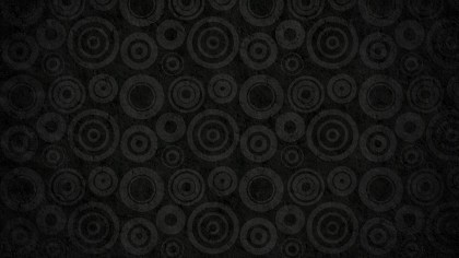 Black Seamless Circle Background Pattern Image
