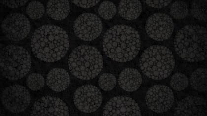 Black Seamless Geometric Circle Background Pattern Image