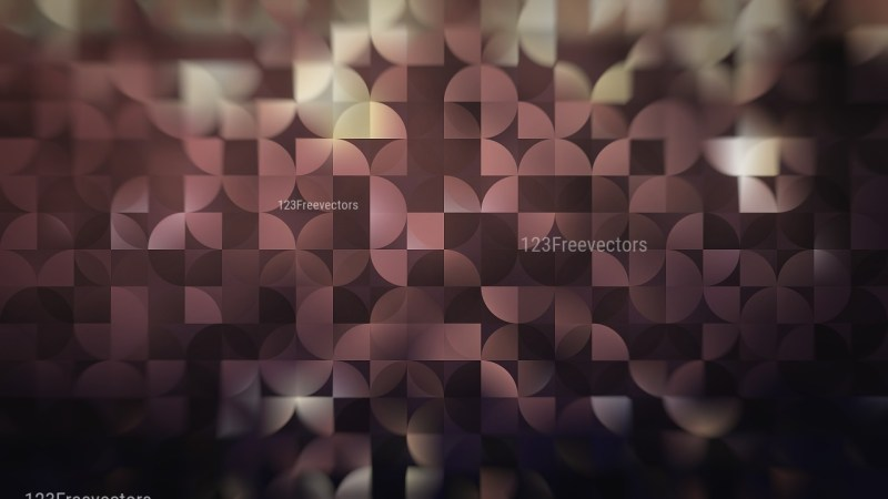 Abstract Black and Brown Quarter Circles Background
