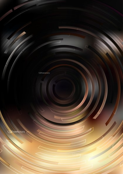 Abstract Black and Brown Circle Background Vector