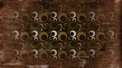 Black and Brown Grunge Circle Pattern Background