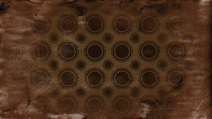 Black and Brown Grunge Seamless Geometric Circle Pattern Background