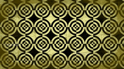 Black and Gold Circle Grunge Background Pattern