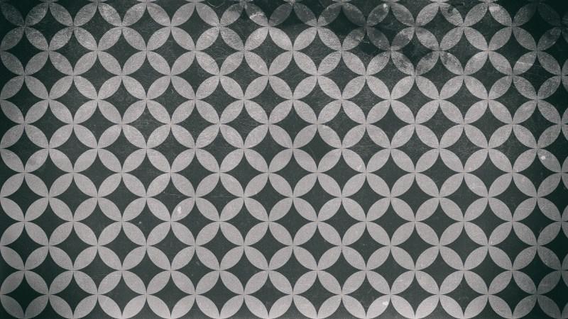 Black and Grey Grunge Seamless Circle Background Pattern