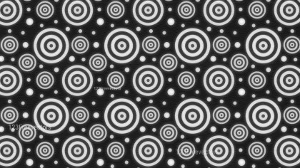 Black and White Circle Background Pattern Image