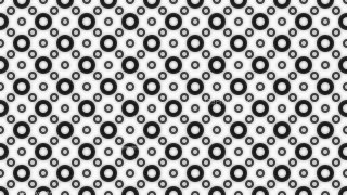 Black and White Seamless Circle Background Pattern Image