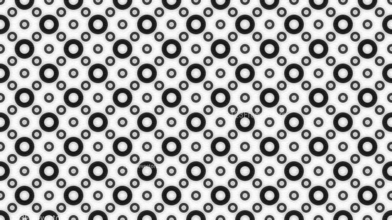 Black and White Seamless Circle Background Pattern Image