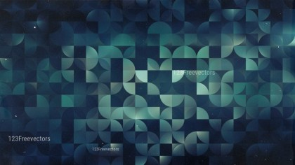 Black Blue and Green Abstract Quarter Circles Background