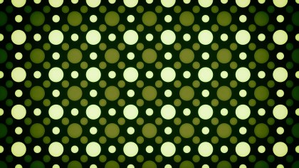 Black Green and Yellow Seamless Circle Background Pattern Image