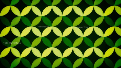Black Green and Yellow Circle Background Pattern Image