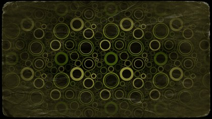 Black Green and Yellow Grunge Seamless Circle Background Pattern Design