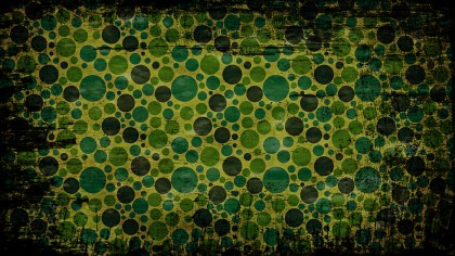 Black Green and Yellow Circle Grunge Background Pattern