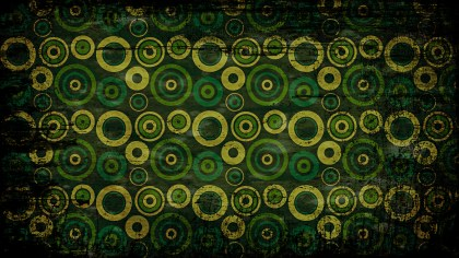 Black Green and Yellow Seamless Circle Grunge Pattern Background Image