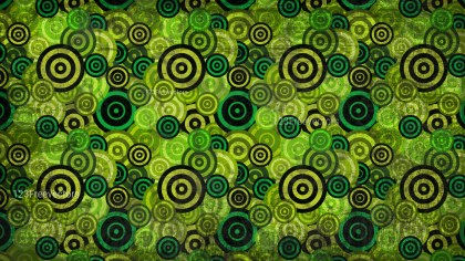 Black Green and Yellow Grunge Circle Pattern Texture Background