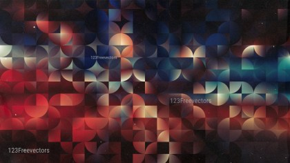 Abstract Black Red and Blue Quarter Circles Background Image