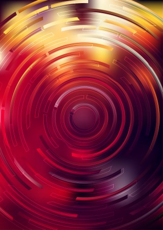 Abstract Black Red and Orange Circle Background Vector Graphic