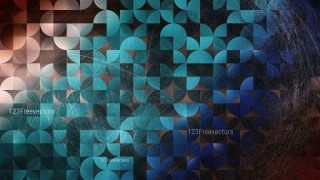 Blue and Brown Abstract Quarter Circles Background Image