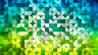 Abstract Blue and Green Quarter Circles Background