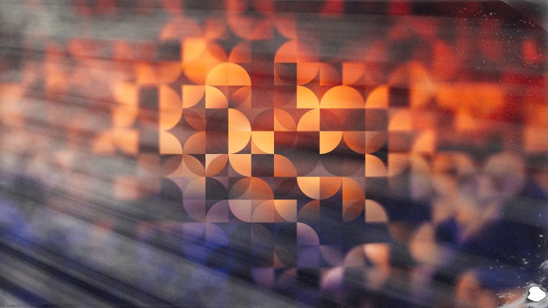 Blue Orange and Black Abstract Quarter Circles Background Image