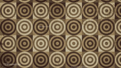 Brown Grunge Circle Background Pattern Graphic