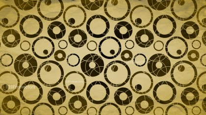 Brown and Gold Geometric Circle Pattern Background Image