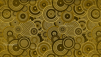 Brown and Gold Seamless Geometric Circle Background Pattern Image