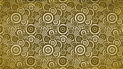 Brown and Gold Seamless Geometric Circle Pattern Background Image