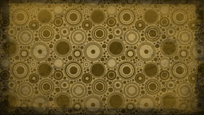 Brown and Gold Seamless Circle Grunge Background Pattern