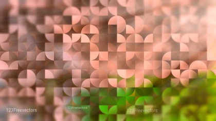 Brown and Green Abstract Quarter Circles Background