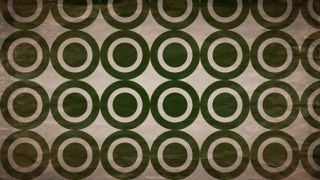 Brown and Green Seamless Geometric Circle Background Pattern Image