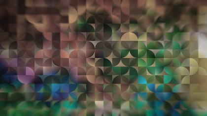 Brown Blue and Green Abstract Quarter Circles Background Image