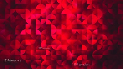 Cool Red Abstract Quarter Circles Background Image