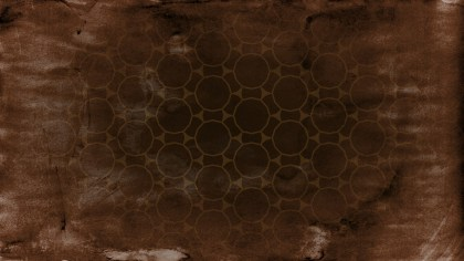 Dark Brown Grunge Geometric Circle Background Pattern