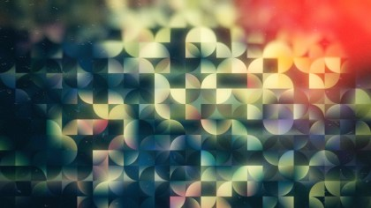 Abstract Dark Color Quarter Circles Background