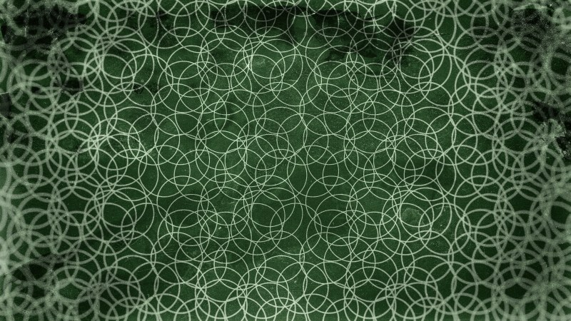 Dark Green Grunge Geometric Circle Background Pattern