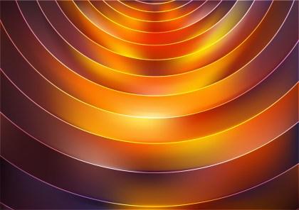 Dark Orange Abstract Circle Background Vector Illustration