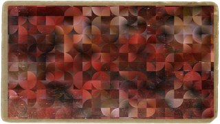 Dark Red Abstract Quarter Circles Background Image